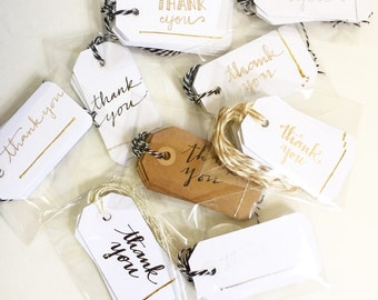 Thank you tags (set of 6)