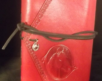 Horsehead Style Red Handmade Leather Journal Made in the USA