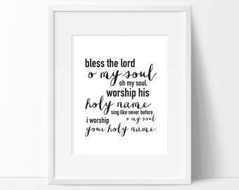 Bless the Lord, O My Soul | Christian Digital Print