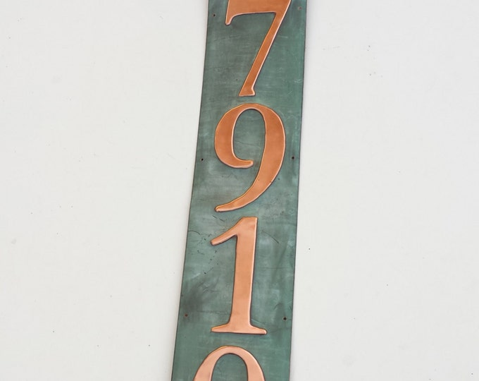 """Traditional House plaque 5 x 3""""/75mm or 4"""" in  polished and patinated copper, Custom made for you o"""