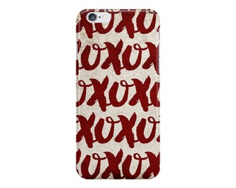 XOXO Hugs and Kisses Phone Case - I Love You Phone Case - Valentine's Gift - iPhone 7 - Galaxy S8