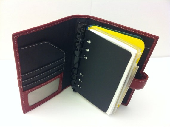 Small  Ring Binders Leather
