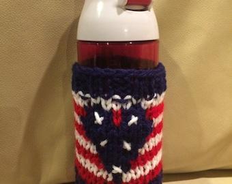 American Flag Cozy, Patriotic cozy cup, 4th of july