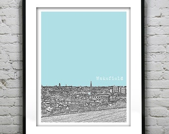 Wakefield Yorkshire England Poster Art Print UK Version 1