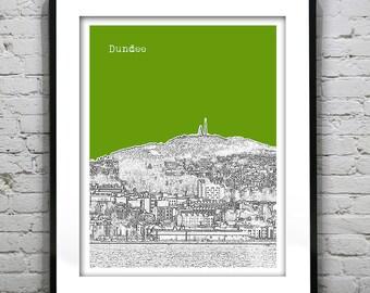 Dundee Skyline Poster Scotland Print Art United Kingdom Version 1
