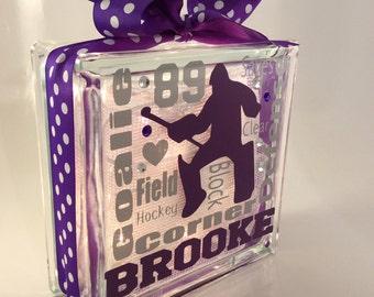 Field Hockey Goalie Typography GemLight, Personalized, Gifts for Field Hockey