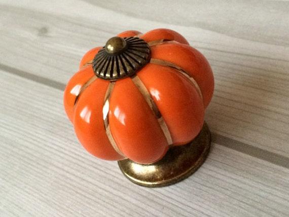 orange cabinet knobs pumpkin knobs kitchen dresser knob drawer