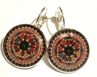 MANDALA EARRINGS - handmade earrings - hippie jewelry - mandala jewelry - indian jewellery - statement earrings - BOHO - gift for her