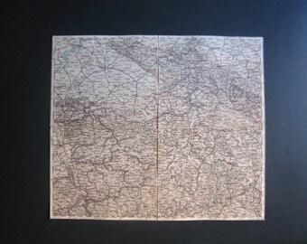 1885 map of Coln, Cassel, Hannover, Osnabruck, Fulda