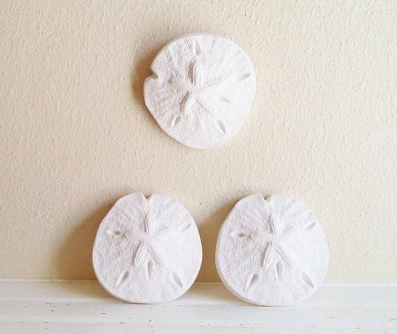 Sand dollar wall sculptures, nautical decor, beach house decor accent, sea shells