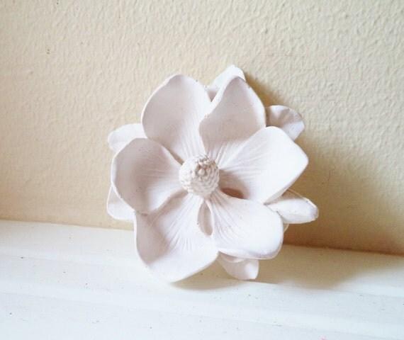 Magnolia flower wall flower, white modern minimalist decor