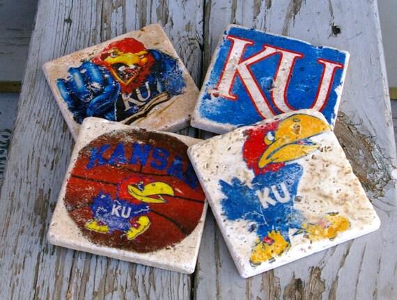 University Of Kansas Drink Coasters/ Man By