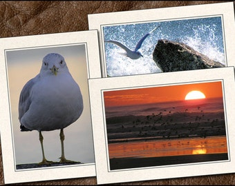 3 Beach Photo Note Cards - Beach Note Cards - 5x7 Beach Cards - Blank Note Cards - Beach Greeting Cards - Nature Note Cards (NA4)