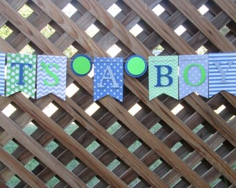 its a boy banner, baby shower decorations, Welcome baby banner