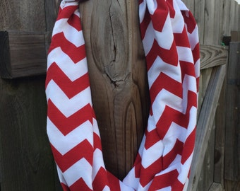 Red Chevron Infinity scarf!