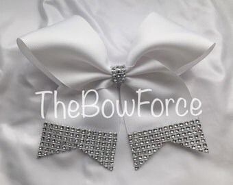 "3"" Bling Tails White Bow - #226107125"