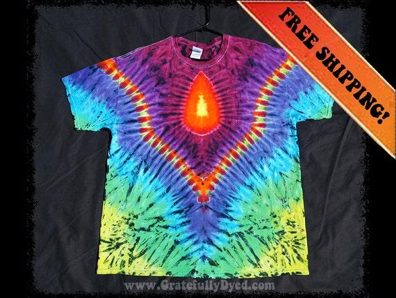 handmade tie dye shirt psychedelic clothing trippy
