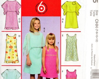 McCall's 6 Great Looks Pattern 5035 SPRING Summer DRESSES & PONCHOS  Children's 3 4 5 6/Girls 7 8 10 12