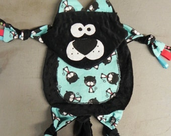 Black cat cuddle critter taggy