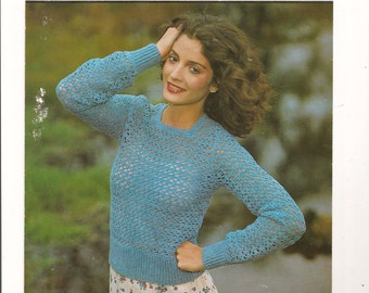 Crochet Patern 4ply Sweater/Jumper  INSTANT DOWNLOAD PDF