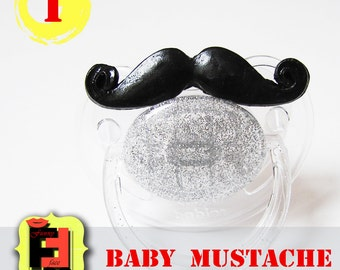 Mustache Pacifier, Baby Mustache, Soother, Baby Shower Gift Mustache, baby photo booth