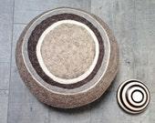"meditation cushion ZEN big, 15""x8"" inches - felted Alps wool, spelt husks filling"