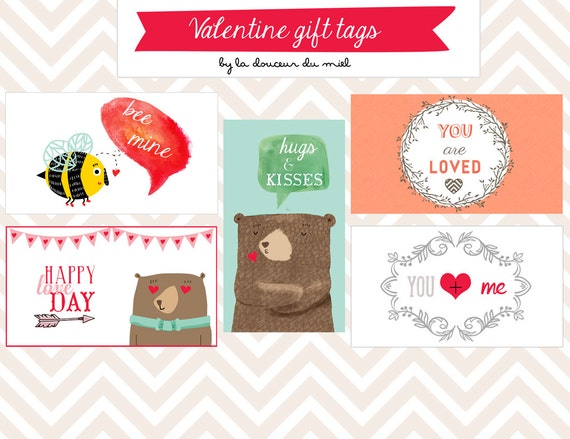 Free printable Valentine gift tags and brand new ones!