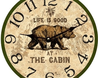 Cabin Clock- Personalized Cabin Clock