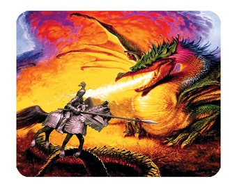 Dragon Knight Fantasy   -  Mouse Mat Mouse Pad