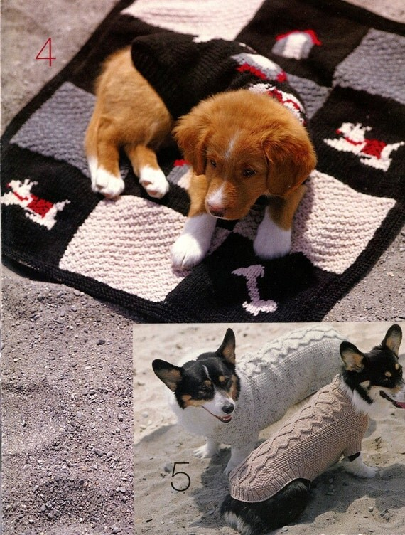 Knitting Pattern Books For Dogs : KNITTING COATS for DOGS 15 page Pattern Book - 5 Sizes Petite to Extra-Large ...