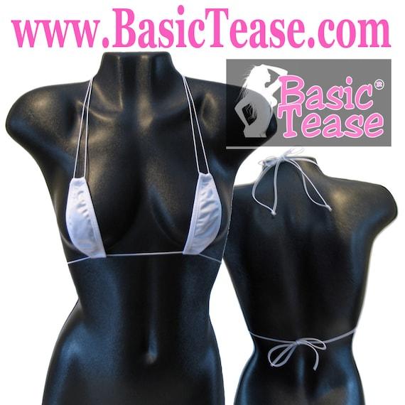 stripper / Teardrop Cord Triangle Stripper Top / stripper clothes / stripper clothing / exotic dancer / exotic dance wear / micro bikini