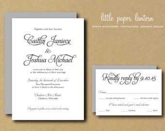 Wedding Invitation - Printable Custom DIY Wedding Invitation - Calla
