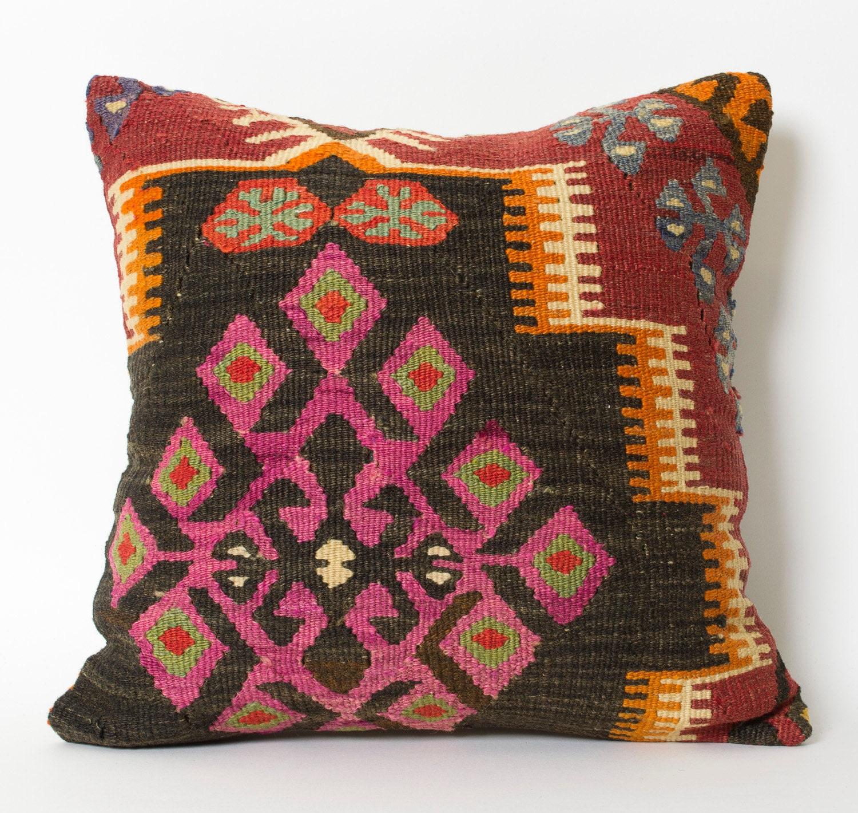 Turkish Kilim Pillow Home Decor Decorative Pillow Home: Kilim Pillow Covers Bohemian Home Decor Turkish Kilim Pillow