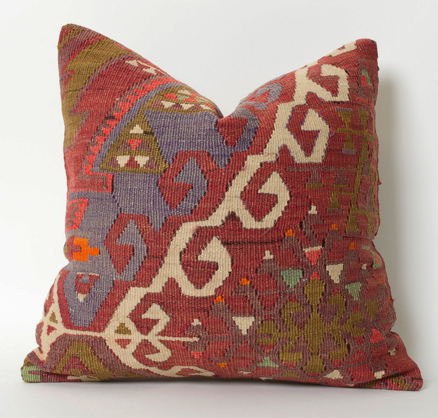 Hippie Floor Pillows : Floor Throw Kilim Pillow Cover Boho Pillow Rustic Red Tribal