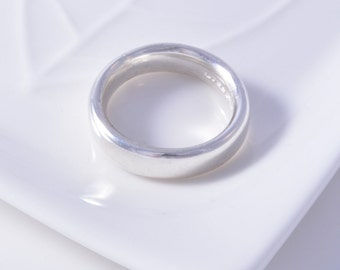 Silver court ring sterling silver court plain ring handmade choose your size custom made 925