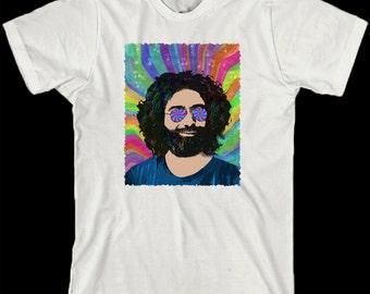 Jerry Garcia Shirt - Psychedelic Garcia - Grateful Dead