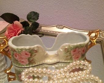 Beautiful, Antique Porcelain Spoon Holder