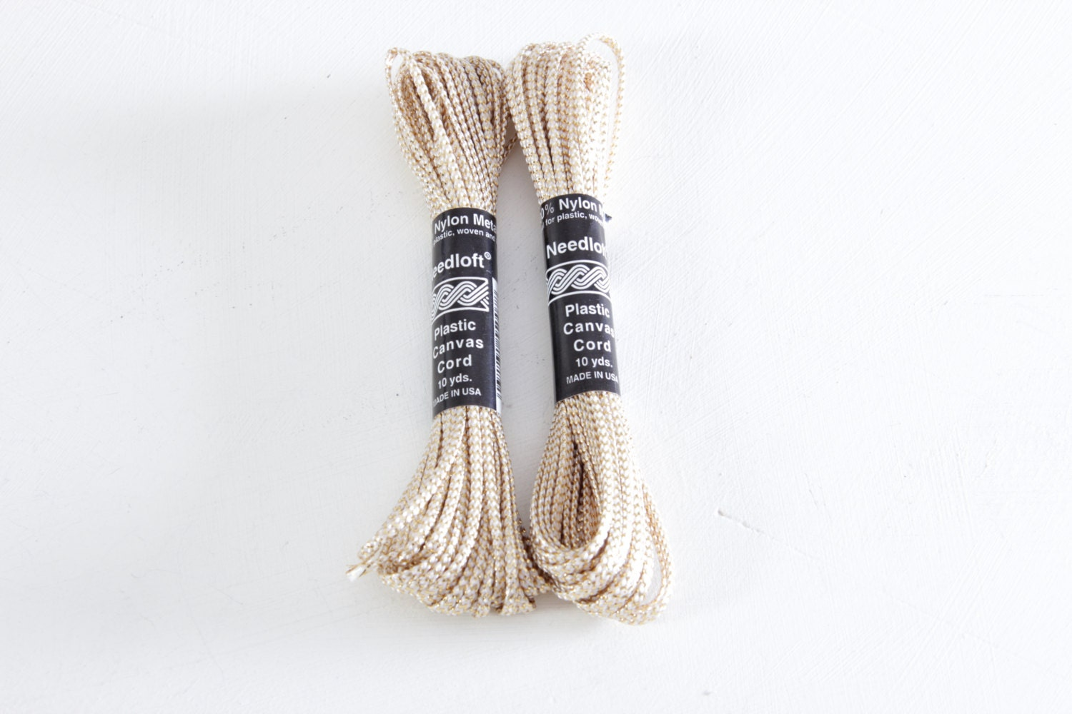 macrame supplies gold macrame cord bulk vintage craft supplies set of 2 10 8298