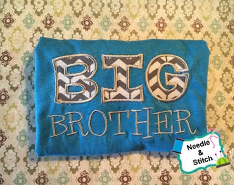 """Special """"Big Brother"""" Personalized Boys T-shirt, bodysuit, embroidery, newborn, Photo shoot prop,"""
