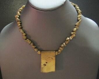 Golden Iron Pyrite Choker