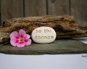 New Year's resolution, be the change pocket stones, personalized favors, graduation gift ~ teacher gift ~