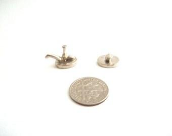Miniature Faucet, Dollhouse Faucet, Mini Faucet, Faucet Hardware, Miniature Hardware, Dollhouse Hardware, Miniature Sink, Dollhouse Sink