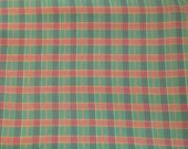Green Blue and Red Plaid Flannel Fabric