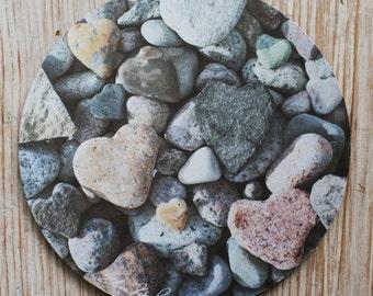 Heart Rocks Mouse Pad Original Photograph