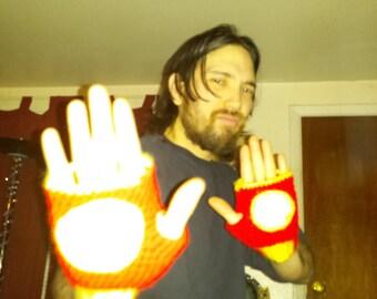 Neat Handmade Iron Man Repulsor Fingerless Gloves/Arm Warmers