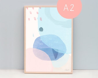 A2 Art Print, Solace, Abstract 15
