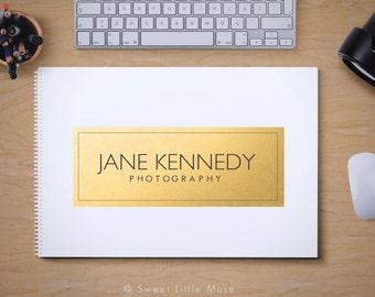 Photography Logo - Modern Gold Logo - gold rectangle logo
