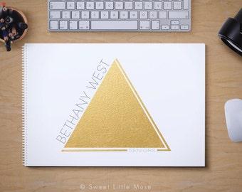 Photography Logo - Modern Gold Logo - gold triangle logo - premade logo