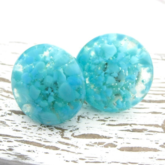 Turquoise glass cabinet hardware knobs dresser drawer pull for Turquoise cabinet pulls