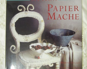 "DIY Book ""New Crafts Papier Mache"" Paper Crafts DIY Hardcover Instructional Guide, for Altered Art, Mixed Media, Traditional Projects, Gifts"